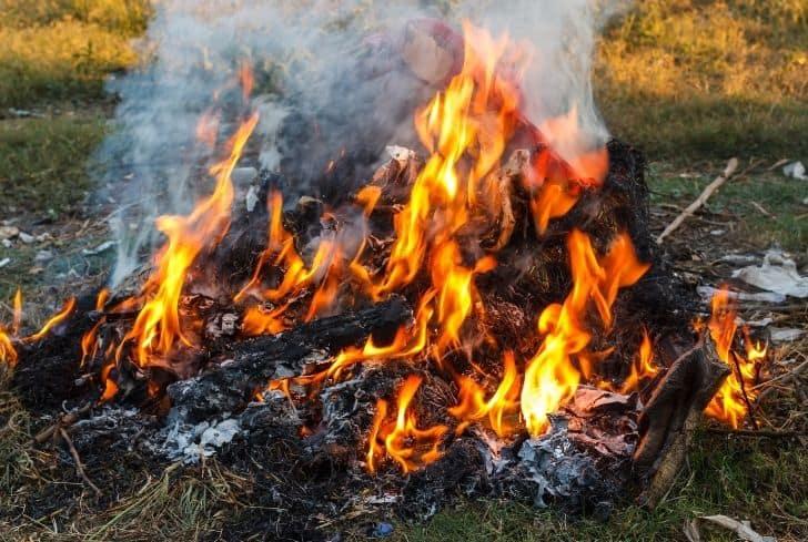 burn-trash-outside